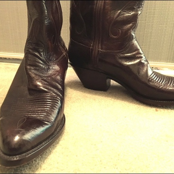 1f839bcea91 Lucchese Kangaroo Leather Cowboy Boots